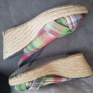 Womens Mossimo Supply Plaid Espadrilles